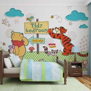 Dettagli su DISNEY MURALE Carta da parati per bambini camerette WINNIE THE  POOH progettazione Foto muro- mostra il titolo originale