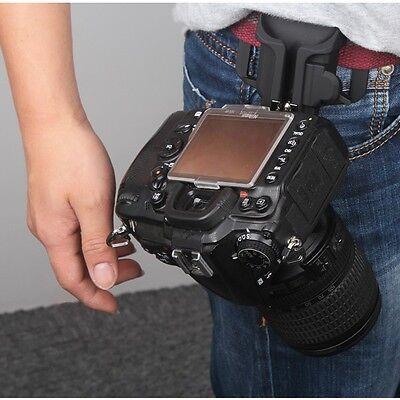 "1/4"" Camera Waist Holster Quick Hunter Shoot Belt Button Fast Load Loading Black"