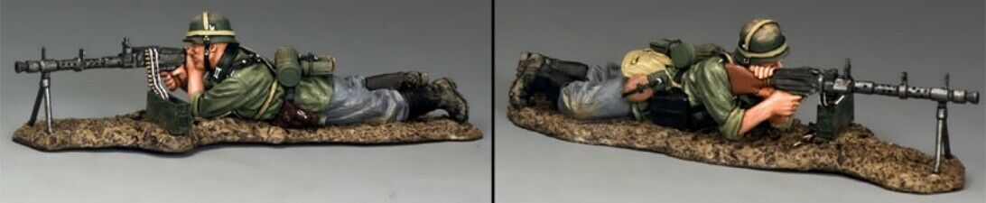 KING & COUNTRY WW2 GERMAN ARMY WS241 PRONE MG34 COVERING FIRE MIB