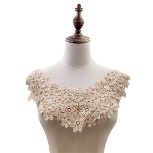 Floral Lace Embroidered Neckline Neck Collar Trim Clothes Sewing Applique Patch