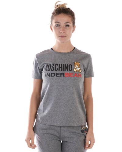 Sweatshirt Shirt 506 Donna A19069002 T Grigio Moschino Maglietta Underwear xPq8Ig