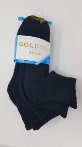 Details About Gold Toe Women S 6 Pack Sport Half Cushion Quarter Socks 9 11 Black