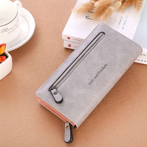Women Lady Clutch Leather Wallet Long Card Holder Phone Bag Case Purse Handbag