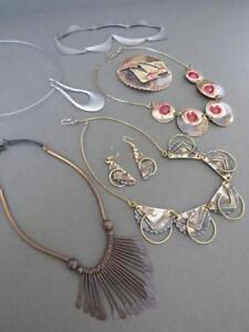 Vintage-Modernist-Necklaces-Chokers-Estate-Job-Lot-Mid-Century