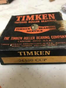 Timken-26300-Tapered-Roller-Bearing-Race-Cup-New-Old-Stock