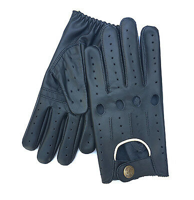 7fb8184bb9c47 Details about Prime Sports Men's Genuine Nappa Soft Leather Classic Fashion Driving  Gloves