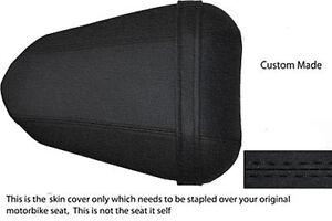 BLACK CUSTOM FITS YAMAHA 1000 YZF R1 04-06 REAR PILLION LEATHER SEAT COVER
