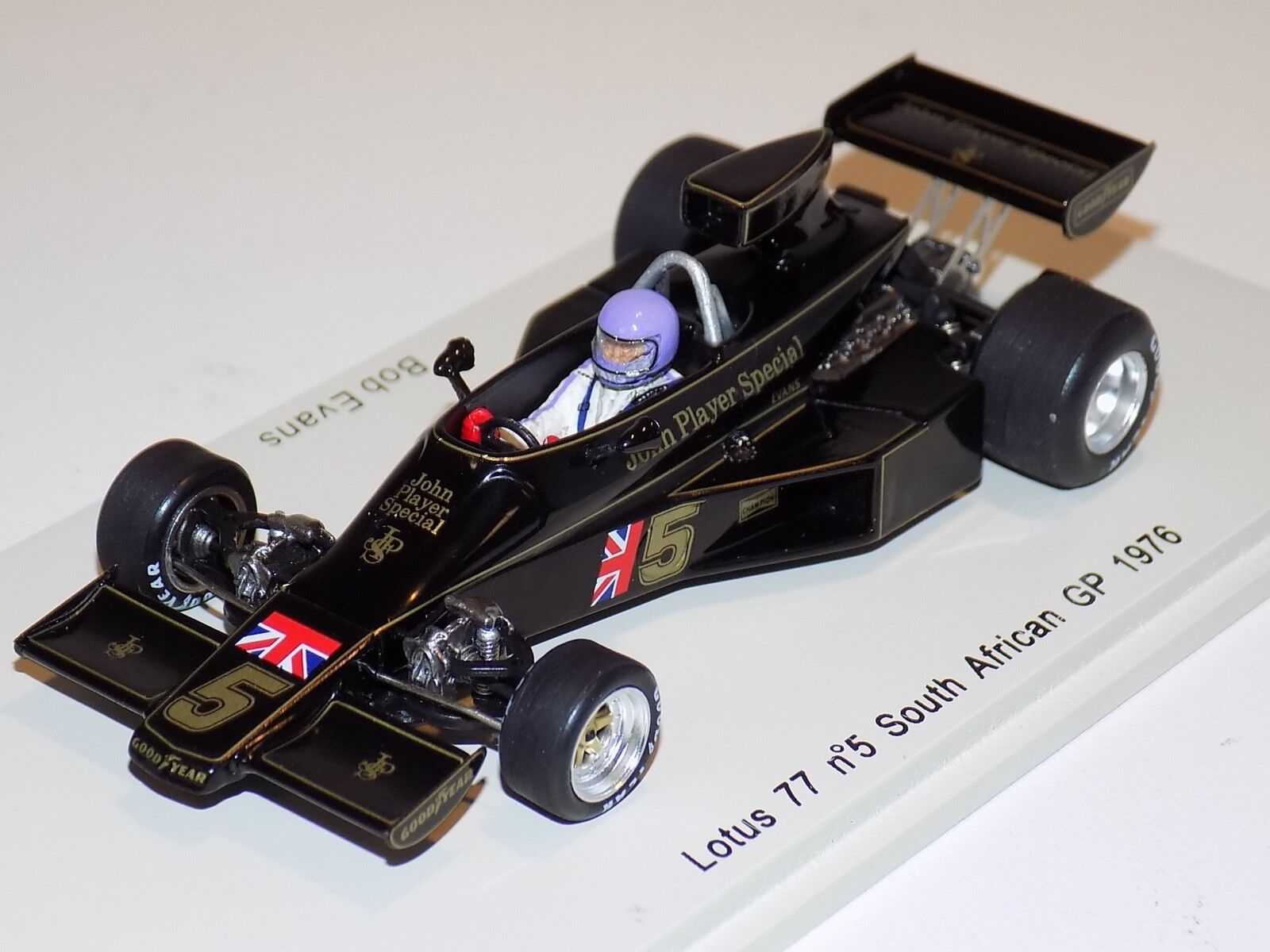 1/43 Spark Lotus 77 car #5 1976 South African  GP B.Evans S2134 with JPS decals