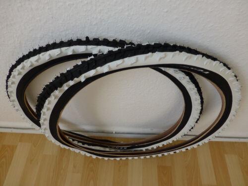 """2x Kenda 20 Zoll BMX Reifen schwarz//weiß K-829 20x2.00 54-406 20/"""" MTB Decke"""