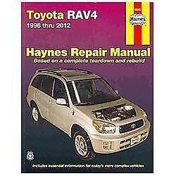 haynes repair manual toyota rav4 1996 thru 2012 by haynes manuals rh ebay com 2012 rav4 service manual 2013 rav4 service schedule