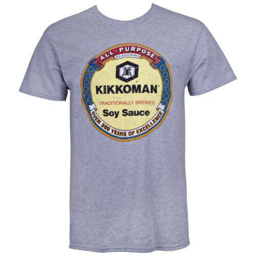 Kikkoman Soy Sauce Logo Tee Shirt Grey