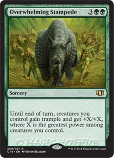 OVERWHELMING STAMPEDE Commander 2014 MTG Green Sorcery Rare