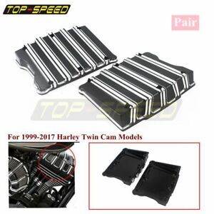 Motorcycle-Rocker-Box-Top-Cover-Case-Black-For-Harley-Touring-Twin-Cam-1999-2017