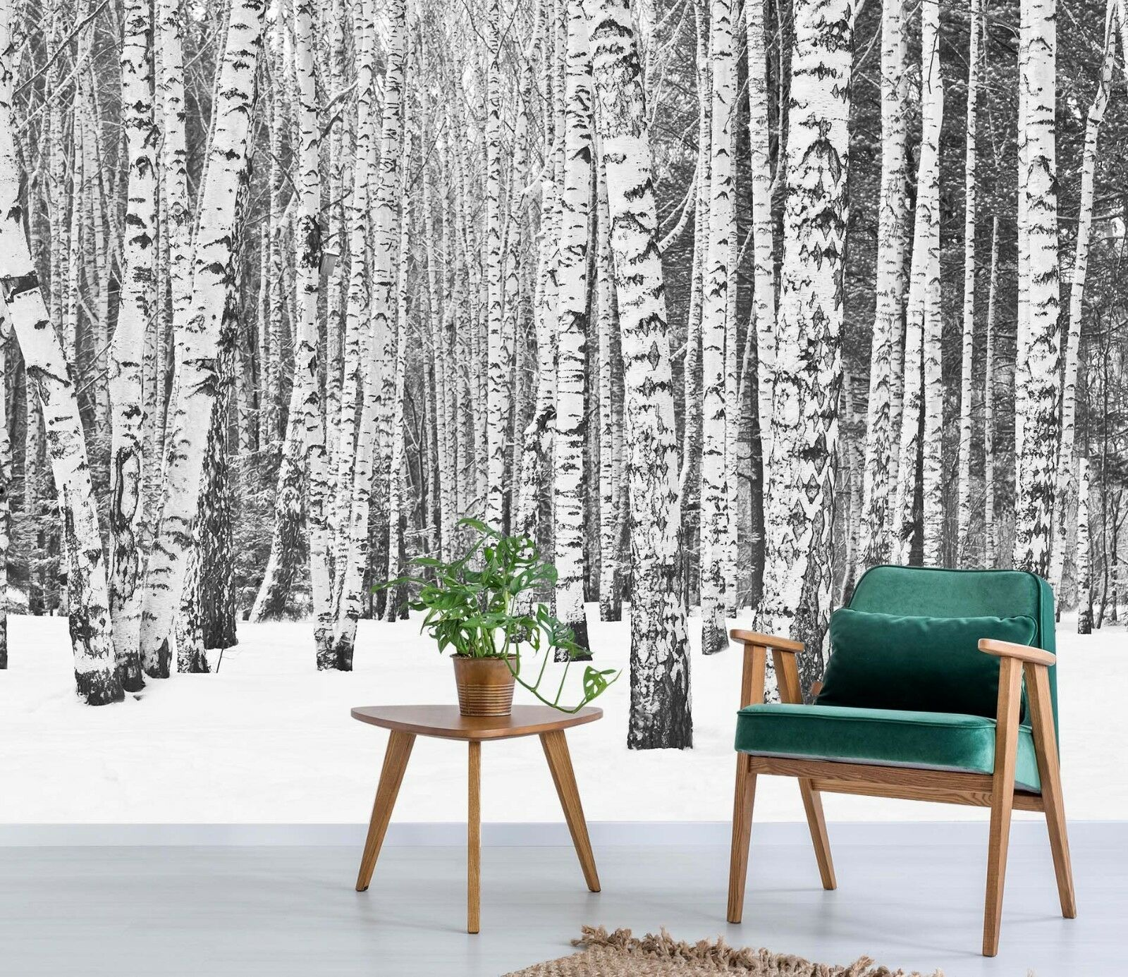 3D Snow Forest Nature 78 Wallpaper Mural Paper Wall Print Murals UK Jenny