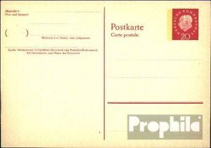 FRG (FR.Germany) P44II Official Postcard unused 1959 Heuss II