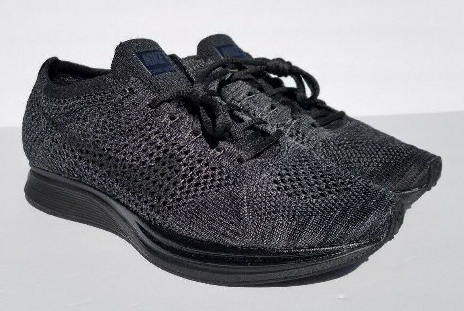 Nike Mens Flyknit Racer Triple Black Anthracite (526628-009) Various Sizes