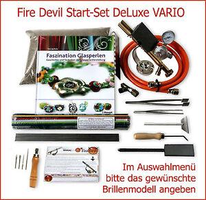 FIRE-DEVIL-Start-Set-034-DeLuxe-034-VARIO-Glasperlen-Brenner-versch-Brillenoptionen