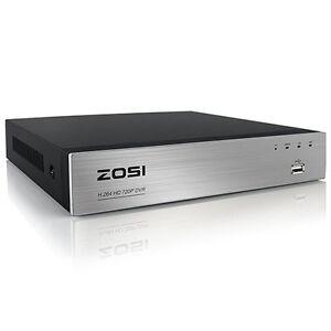 ZOSI CCTV 8CH 720P TVI DVR HDMI Video Recorder Überwachung Rekorder P2P ohne HDD