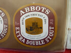 VINTAGE AUS BEER LABEL. CARLTON & UNITED - ABBOTS EXTRA DOUBLE STOUT 375ML 8DS