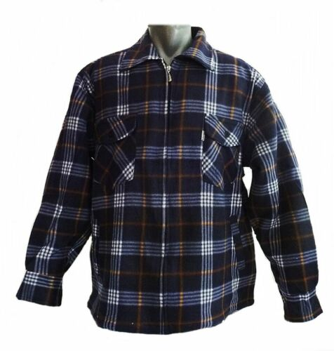 Lumberjack veste décontractée thermojacke thermohemd bleu//beige à carreaux m-3xl