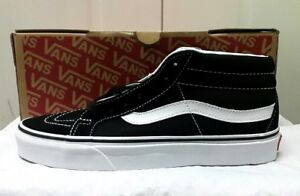 7679b382ad Image is loading NEW-Vans-Sk8-Mid-Reissue-Skate-Shoes-Black-