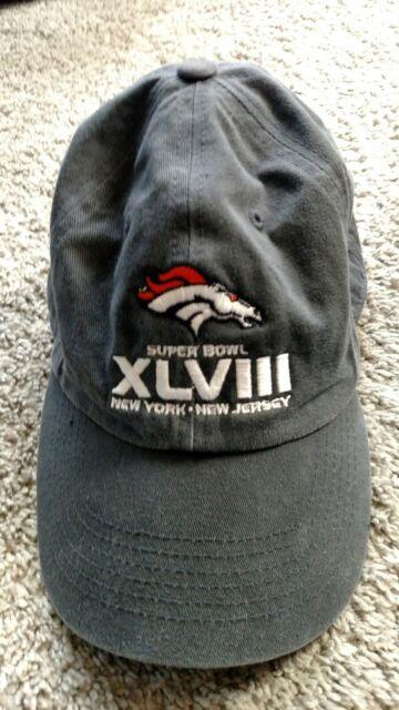 c30776a8953 Denver Broncos NFL Vintage Hat Cap by  47 Brand Super Bowl XLVIII Blue NFL  Logo