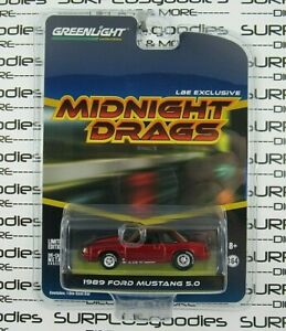 Greenlight-2019-LBE-Exclusive-Midnight-Drags-Ruby-Red-1989-FORD-MUSTANG-LX-5-0