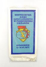 #e6438 Alter Wimpel aus Polen Mistrzostwa Armii BYDGOSZCZ 17.-19.VI.1977