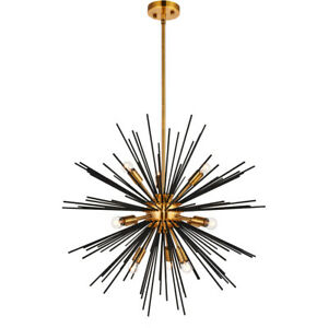 Peachy 10 Light 26 Sputnik Antique Brass And Flat Black Dining Download Free Architecture Designs Viewormadebymaigaardcom