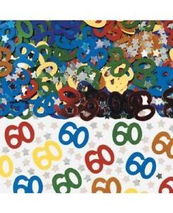 Decoracion De Confeti Para Fiesta 60 Cumpleanos Multicolor Unisex