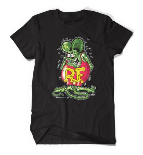 "Rat Fink /""Real Rat/"" Black Tee 9266 Front Print"