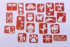 Glitter Tattoo Stencils - 80 piece Girls Stencil Pack - Maybel's Glitter Tattoo
