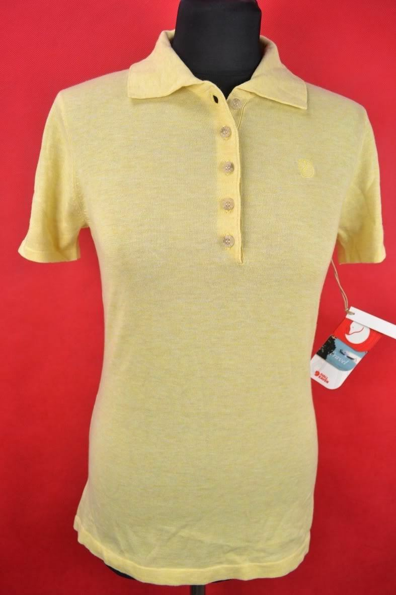 Fjällräven   Tamarin Top   [s]  Ladies' Outdoor Polo Shirt Yellow NEW  luxury brand