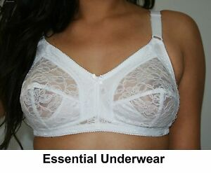 SUREFIT-FIRM-CONTROL-LACE-FULL-COVERAGE-BRA-NON-WIRED-BLACK-WHITE-ALL-SIZES
