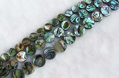 """10mm12mm14mm colourful Abalone shell round gemstone Beads 15"""""""