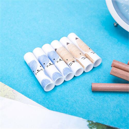 6 Pcs Cute Pencil Cap Pencils Sleeve Pencil Extender Cover School Supplies New