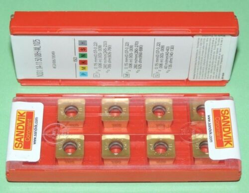SEALED PACK ** N331.1A-11 50 08H-WL 1025 SANDVIK INSERTS ** 10 PIECES