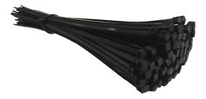 100 BLACK CABLE TIES 300mm X 4.8mm - UK Manufactured - DISCOUNTED
