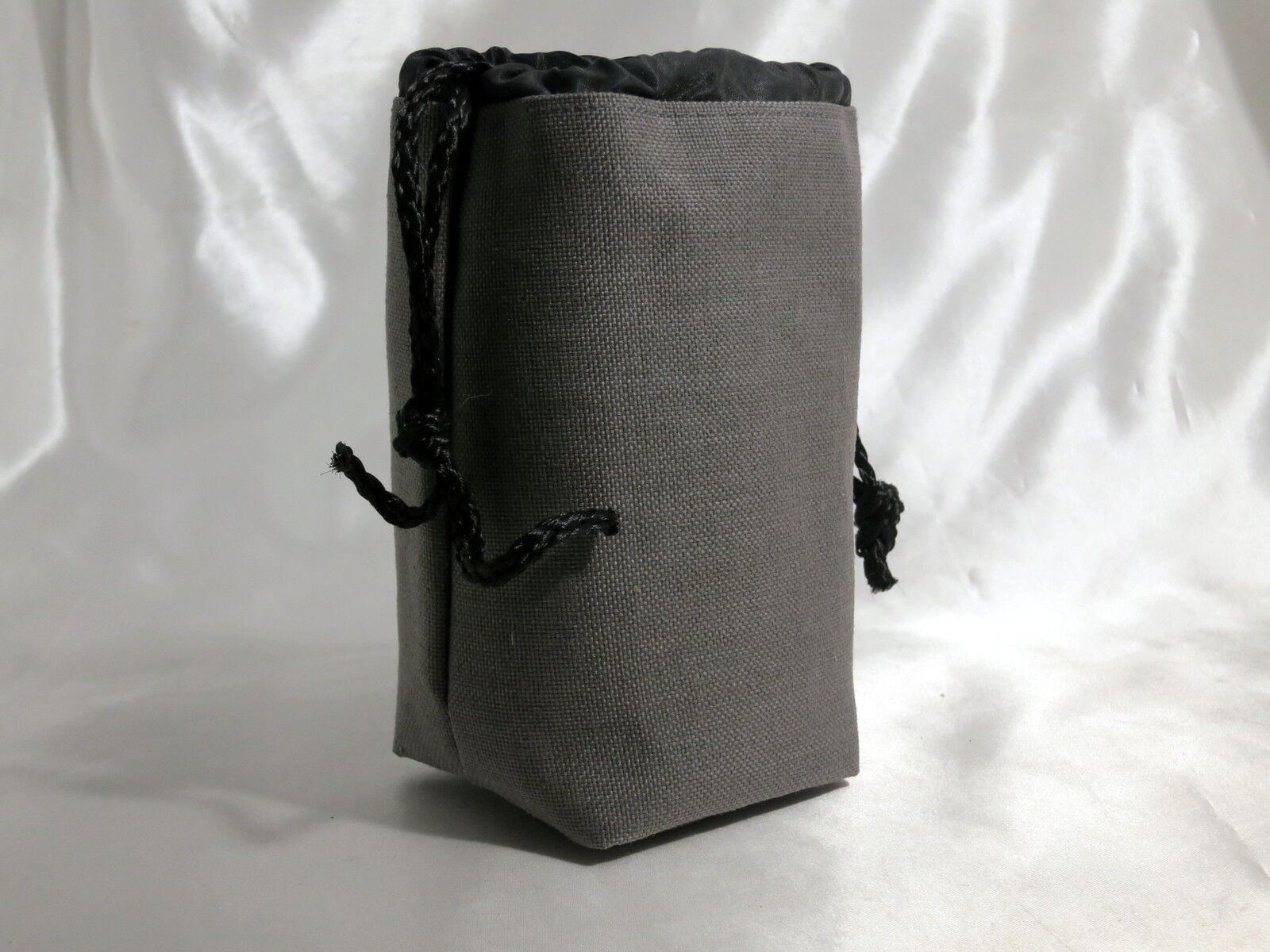 Soft Gray Fabric Lens protective Case Pouch h5.5