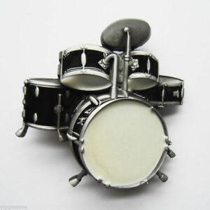 drums drum kit black music rock roll metal fashion belt buckle ebay. Black Bedroom Furniture Sets. Home Design Ideas