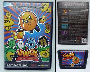 Uwol-Quest-for-Money-small-box-amp-NO-manual-SEGA-Mega-Drive-MD-PAL