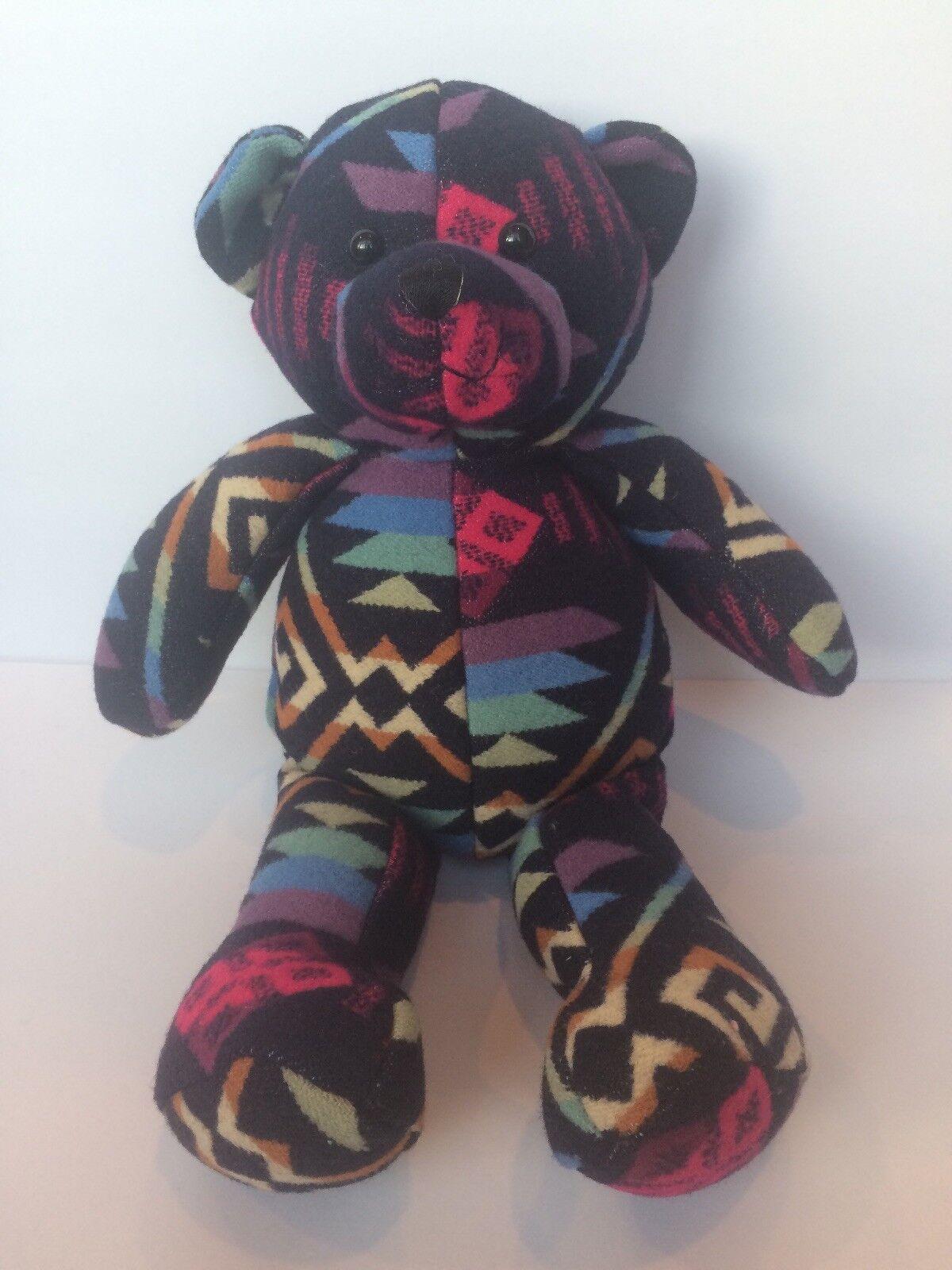 """Pendelton By GUND Franklin Wool Bear Native American Blanket Pattern 14"""""""