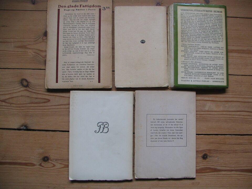 Storm P. illustrerede 5 bøger, 5 forskellige forfattere
