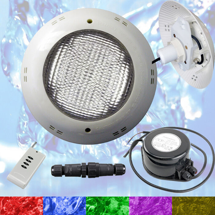 Swimming Pool LED Light RGB - Above Ground / Vinyl - Bright Multi Colour + Power