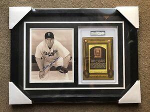 Bill-Herman-Autograph-Signed-8x10-Photo-HOF-Card-Framed-Collage-PSA-DNA-Dodgers