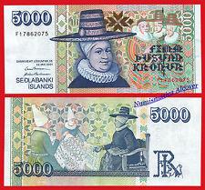 ISLANDIA ICELAND 5000 Kronur coronas 2001 (2014) Pick 60 SC  / UNC
