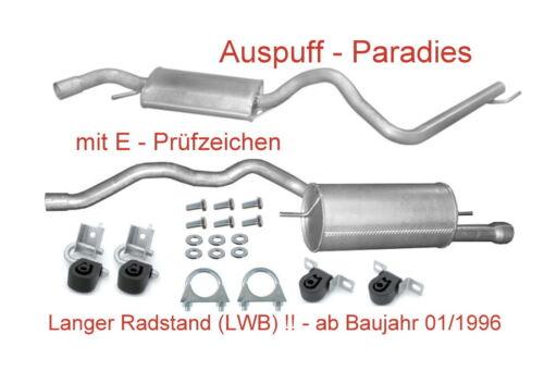 de long//LWB à partir de 1996 Kit Véhicule à essence Échappement échappement VW t4 2.5 Synchro//4x4