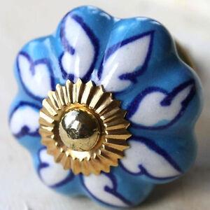 Manija-de-Muebles-Ceramica-Pomos-para-Boton-India-Azul-Claro-99