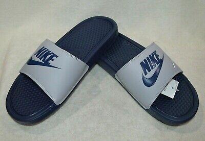 Nike Benassi JDI Wolf Grey/Navy Men's
