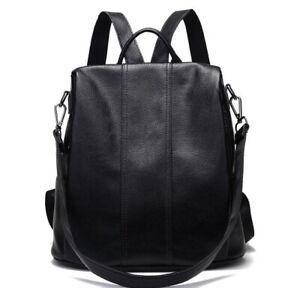Anti-theft-Leather-Korean-Fashion-Bag-Backpack-Women-School-Bag